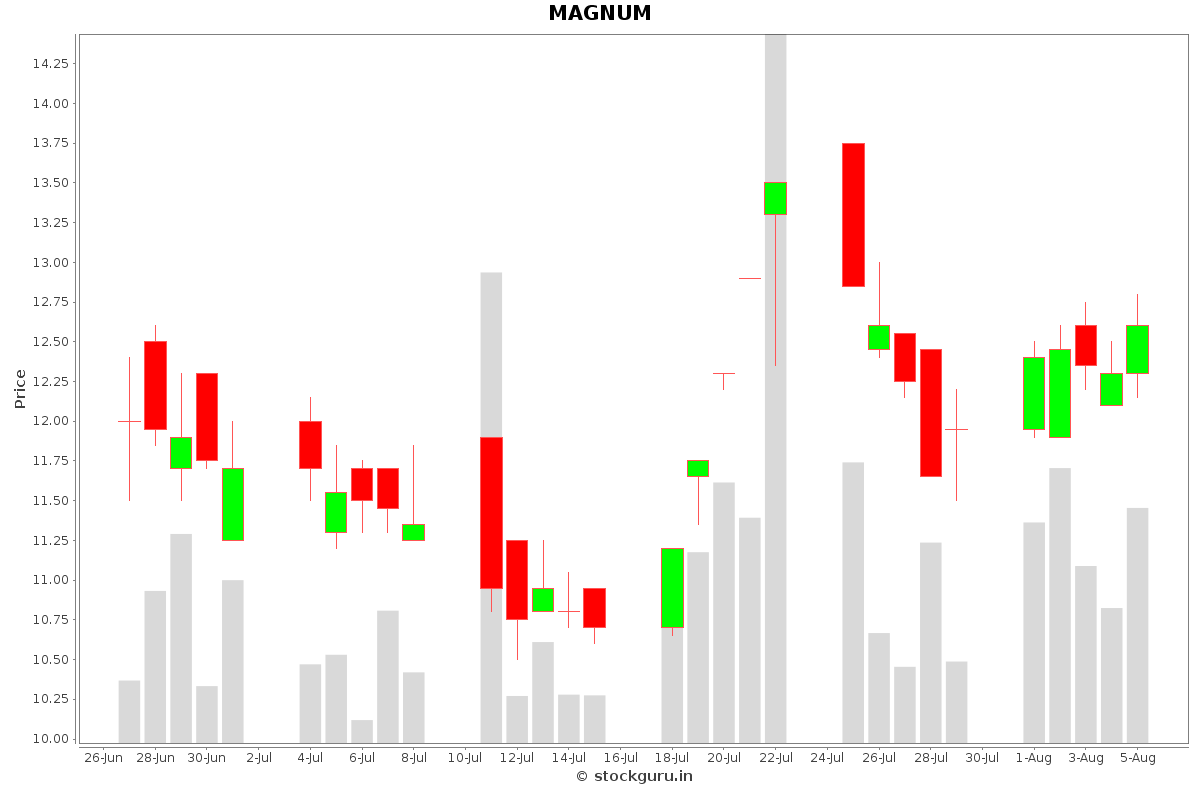 MAGNUM Daily Price Chart NSE Today