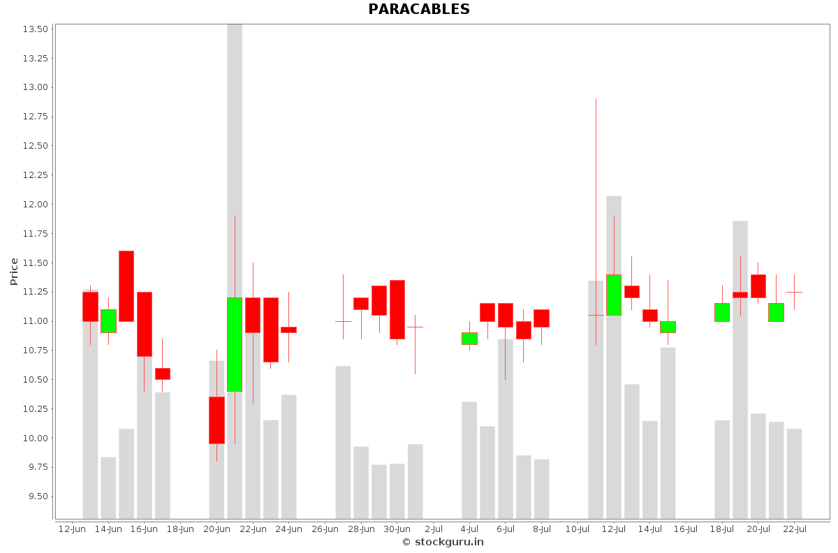 PARACABLES Daily Price Chart NSE Today